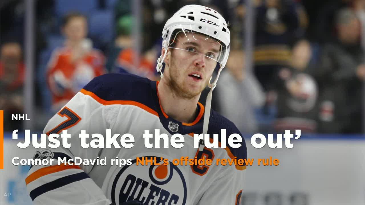 Connor Mcdavid Rips Nhl S Offside Rule After Oilers Goal Overturned Video