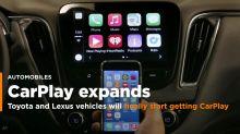 Toyota and Lexus vehicles will finally start getting CarPlay this year