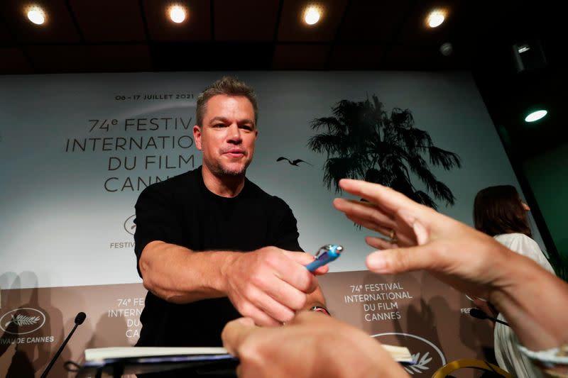 Matt Damon unveils Amanda Knox-inspired film at Cannes
