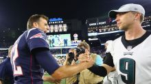 """Tom Brady """"didn't even think"""" about shaking Nick Foles' hand"""