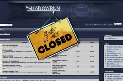Shadowrun forums close as franchise transitions into new hands