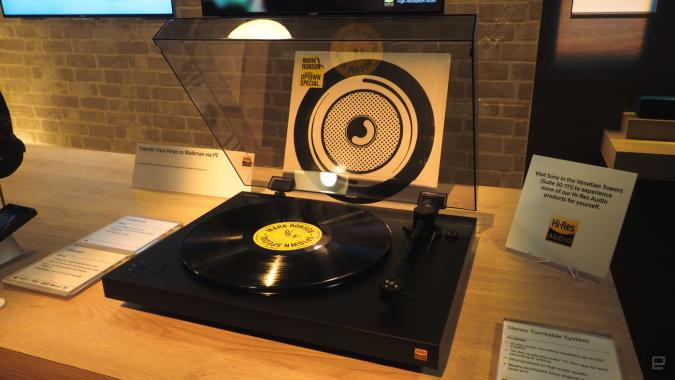 Sony's new turntable lets you digitize your vinyl collection