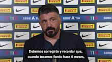 """Gattuso: """"Mis delanteros juegan como defensas y mis defensas, como delanteros"""""""