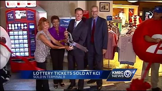 Lottery ticket sales begin at KCI Airport