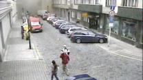 CCTV Footage of Prague Gas Explosion