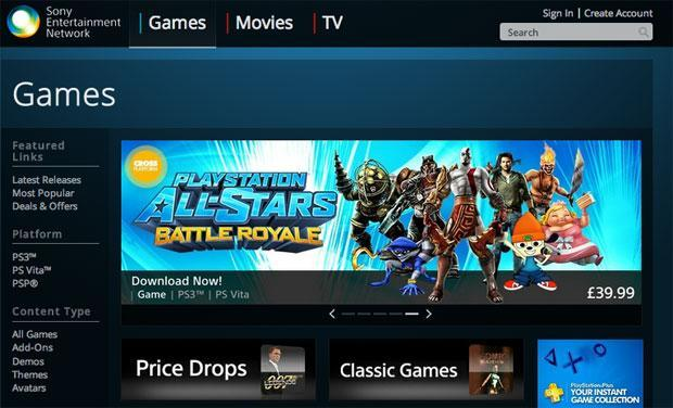 Sony launches web store for PlayStation games, movies and TV shows (update: Europe-only, PS3 downloads work!)