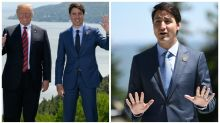 People think Justin Trudeau wore fake eyebrows