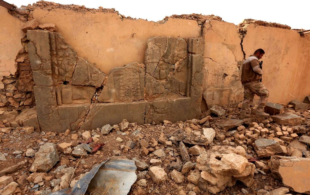 Iraqi forces announced that Nimrud, which was founded in the 13th century and became the capital of the Assyrian empire, was recaptured on Sunday as part of the massive operation to retake Mosul (AFP Photo/Safin Hamed)