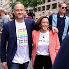 Kamala Harris Becomes First Sitting Vice President to March in a Pride Event