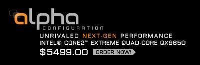 HP Blackbird 002 alpha hits with Intel QX9650 Core 2 Extreme quad-core processor inside