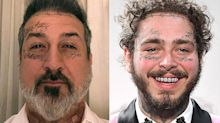 Post Fatone? Joey Fatone Gets Face Tattoo Makeover with Post Malone Halloween Costume
