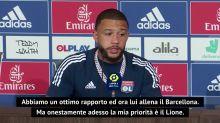 """Depay e il Barcellona: """"Grande rapporto con Koeman, ma penso al Lione"""""""