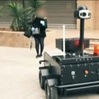 Coronavirus: Tunisia uses robots to police lockdown and tell people to stay home