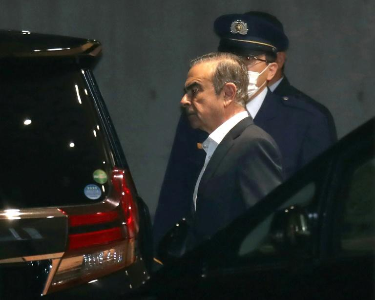 Ghosn faces multiple charges of financial misconduct -- which he denied (AFP Photo/JIJI PRESS)