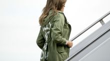"""""""En realidad no me importa. ¿Y a ti?"""": el mensaje en la chaqueta que usó Melania Trump antes de visitar a los niños migrantes en la frontera"""