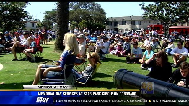 Memorial Day services at Star Park Circle on Coronado