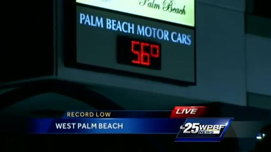 West Palm Beach braces for record cold