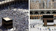 Millions of people undertake the Hajj every year. These photos show how different the yearly Muslim pilgrimage is this year because of the pandemic.