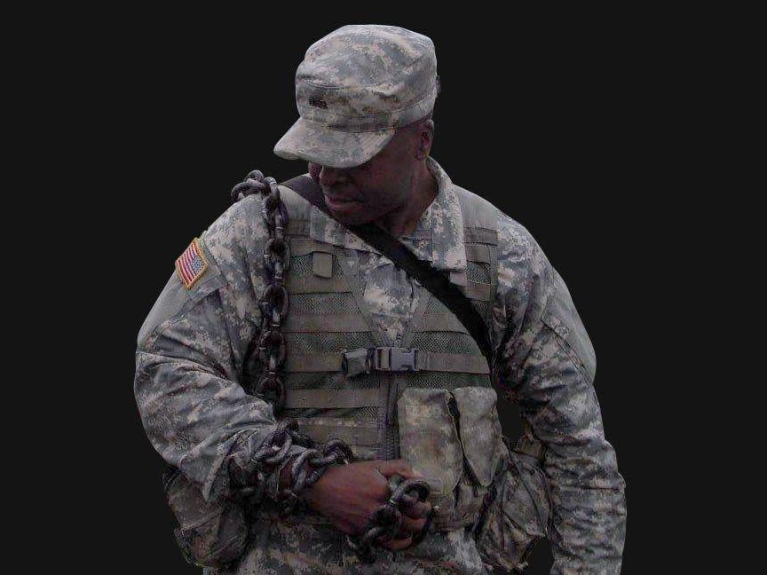 Black soldier recalls 'most humiliating punishment'