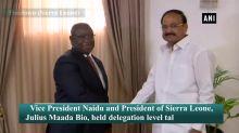 VP Naidu holds delegation-level talks with President of Sierra Leone