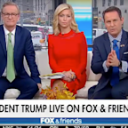 Trump accused Fox News hosts of lying when they said they didn't know who the Ukraine whistleblower was in an awkward exchange