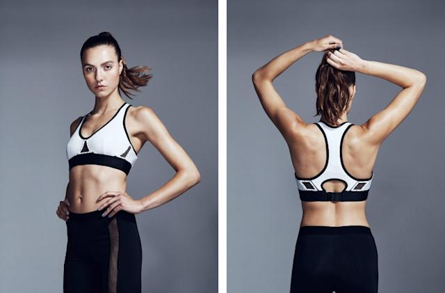 Intel Curie opens vents in Chromat's sports bra to keep you cool