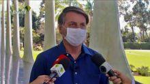 Bolsonaro citódatos imprecisos y remedios sin pruebas al anunciar suCOVID-19