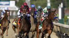 Long shot Shedaresthedevil pulls off upset in Kentucky Oaks