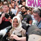 Minnesota crowd welcomes home Ilhan Omar