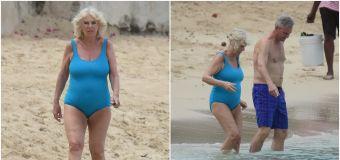 Camilla enjoys a dip on royal tour