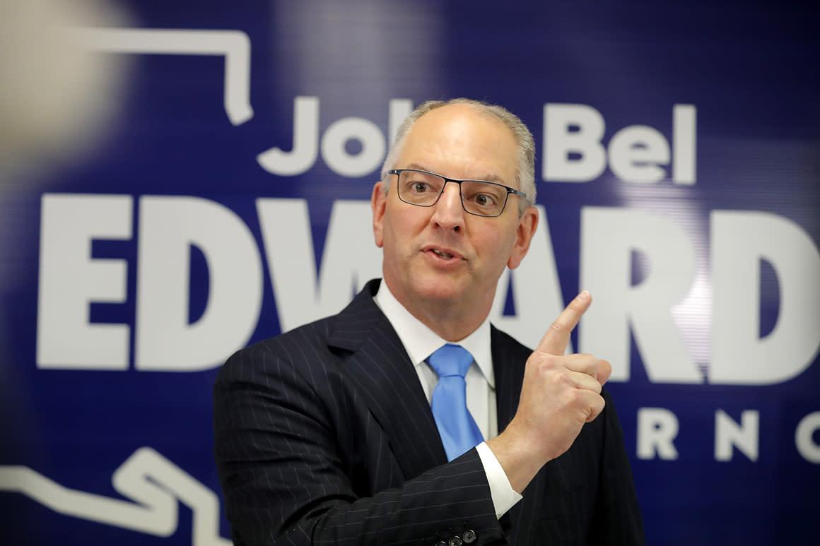 Democratic Gov. John Bel Edwards wins reelection in Louisiana