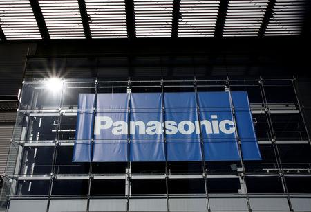 FILE PHOTO : Panasonic Corp's logo is pictured at Panasonic Center in Tokyo