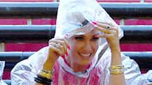 Gwen Stefani Made a Rain Poncho Look Like Real Fashion at Universal Studios