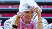 Gwen Stefani Made a Rain Poncho Look Like Real Fashion at Universal Studios
