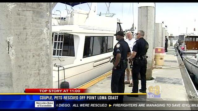Couple, pets rescued off Point Loma