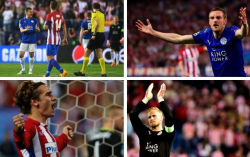 Leicester City may have leftVicente Calderón Stadium frustrated having lost to Atlético Madrid following a questionable decision from refereeJonas Eriksson, but they still stand a chance of reaching the European Cup semi-finals