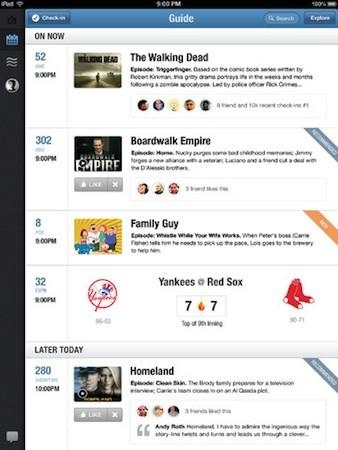 GetGlue for iPad hits version 3.0: adds personalized guides, show recommendations and alerts