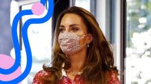 Kate Middleton Rewore A Dress & Mask — & They Look Even Better Together
