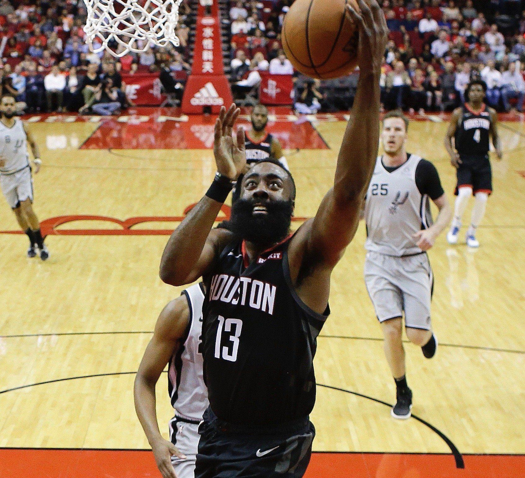 c7f67fa1aacb James Harden s career-high 61 power Rockets past Spurs
