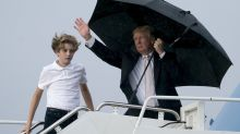 Trump Says He Would 'Have A Hard Time' If Son Barron Played Football