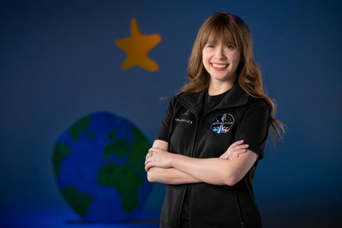 SpaceX private flight Hayley Arceneaux