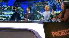 The Project's Peter Helliar walks off set: 'It's all right, mate'