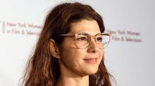The hidden meaning behind Marisa Tomei's red carpet T-shirt