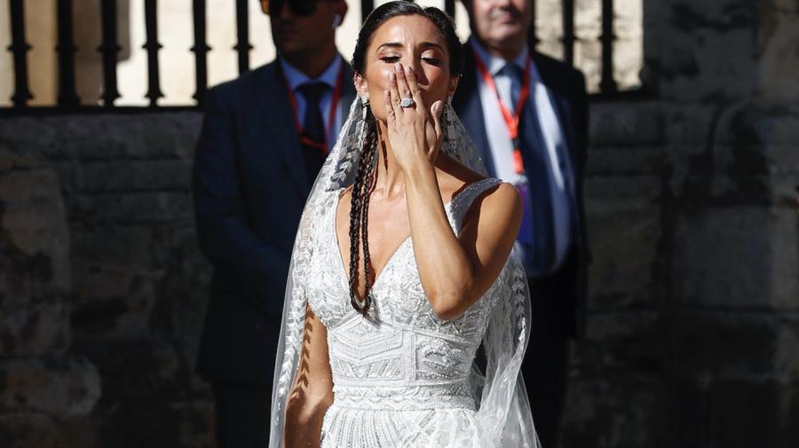 Como una 'flamenca auténtica' llegó a su boda