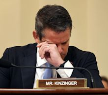 GOP Rep. Adam Kinzinger chokes up while telling police who fought off pro-Trump mob on January 6 that 'you guys won'
