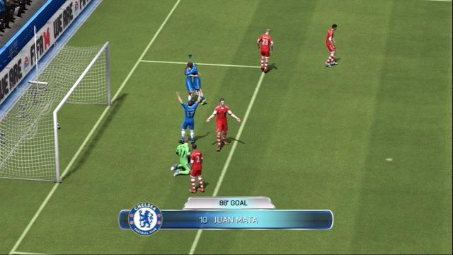 FIFA 14 - Mata double header goals - Gameplay