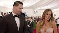 Sofia Vergara and Joe Manganiello at the Met Gala 2015