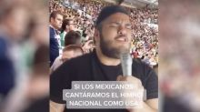 VIDEO | La polémica entonación del Himno Nacional Mexicano, cantado como el de EEUU