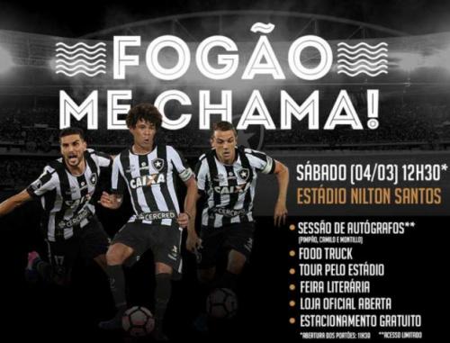 'Fogão me chama': Botafogo promove evento no Nilton Santos neste sábado