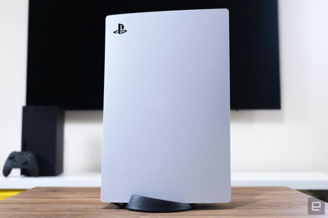 Sony PlayStation 5 gaming console.